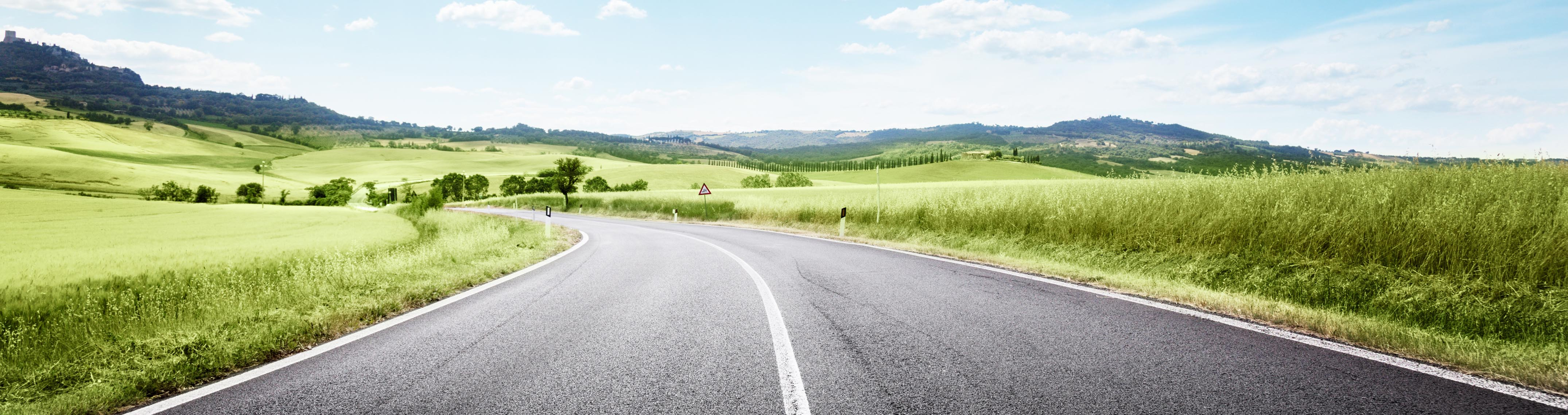 Landscape with open road