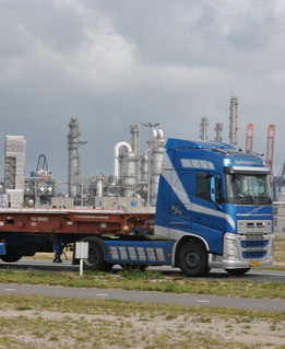 Lorry at chemical plant