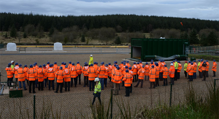 DNV GL's Dan Allason introducing detonation demonstration at Spadeadam Testing and Research