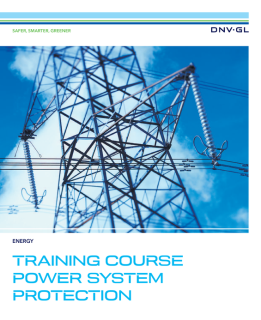 Power system protection training course