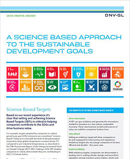 A science based approach to the SDGs
