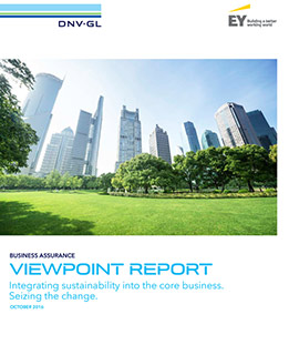 DNV GL ViewPoint report fall 2016 - Interated sustainability front page