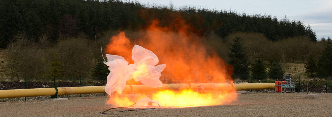 H2 deflagration at Spadeadam Testing and Research, Cumbria, UK